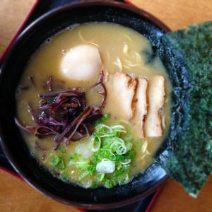 Pork Ramen at Shige Sushi in Cotati. photo heather irwin.