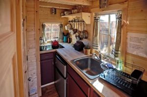 The Tumbleweed rental's kitchen.