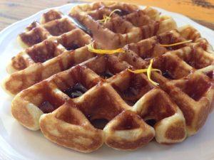 Whiskey Caramel Waffles at The Naked Pig and Santa Rosa