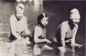 Women take a refreshing dip in the early 1900s. (Courtesy Suki Waters)