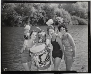 Pageant of Fire Mountain performers, from left, are Kathy Gennelly, Jan Guidotti (who starred as Prophetess,) Vernie Fuller and Connie DeCarly. (Courtesy John Schubert)