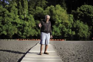Johnson's Beach Resort owner Clare Harris, 93, in Guerneville.