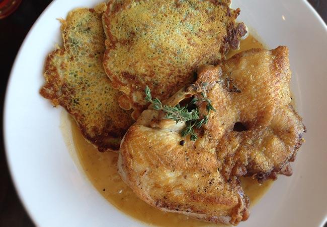 Roast chicken from Pullman Kitchen in Santa Rosa. Photo: Heather Irwin