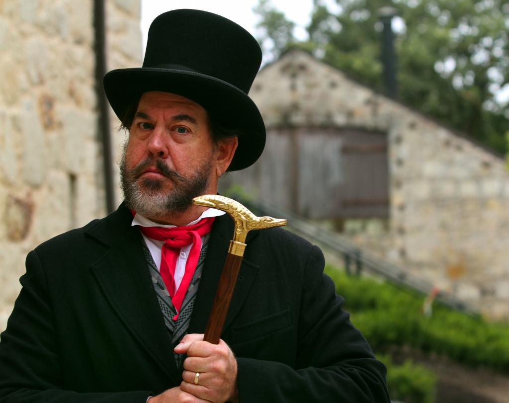George Webber plays Count Agoston Haraszthy for Buena Vista Winery. He is the ambassador for the winery, bringing the founder of the winery to life (photo by Jeff Kan Lee, 2012)