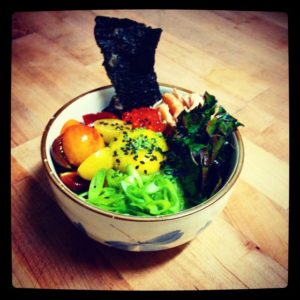Donburi at Ramen Gaijin, a new pop-up ramen bar. Photo stolen from the Ramen Gaijin Faceboook Page.