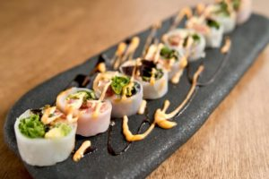 Toki Roll at Shige Sushi Japanese Kitchen in Cotati. (Alvin Jornada / The Press Democrat)