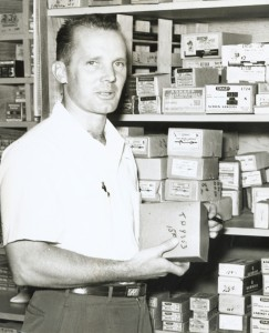 Williams-Sonoma founder Chuck Williams in his Sonoma hardware store, which he transformed into the first Williams-Sonoma cookware store in 1956. Photo courtesy of Williams-Sonoma.