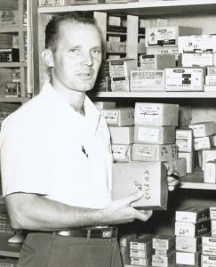 Williams-Sonoma founder Chuck Williams in his Sonoma hardware store, which he transformed into the first Williams-Sonoma cookware store in 1956. Photo courtesy of Williams-Sonoma.