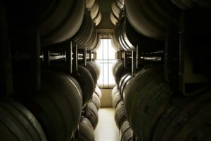 Barrels sit inside the Punchdown Cellars in Santa Rosa on Thursday, July 17, 2014. (Conner Jay/The Press Democrat)