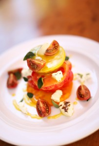 Heirloom tomato salad at The Girl and the Fig in Sonoma. (Conner Jay/The Press Democrat)