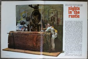 "The August 1967 issue of Cavalier magazine, in which Thompson's article ""Nights in The Rustic"" appeared."
