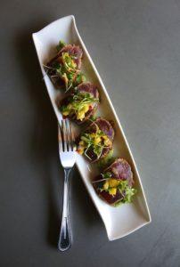 Line caught seared ahi tuna at the Belly Left Coast Kitchen & Tap Room in downtown Santa Rosa. (John Burgess/The Press Democrat)
