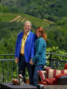 Sam and Robin Sebastiani at their home.
