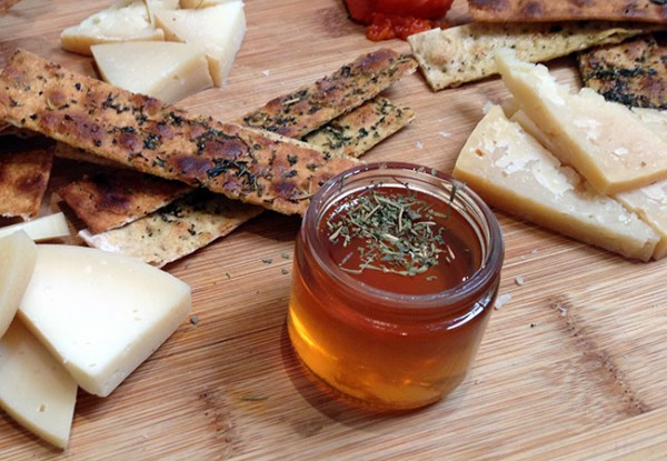 Local honey and cheese from Native Kitchen and Kombucha Bar in Petaluma