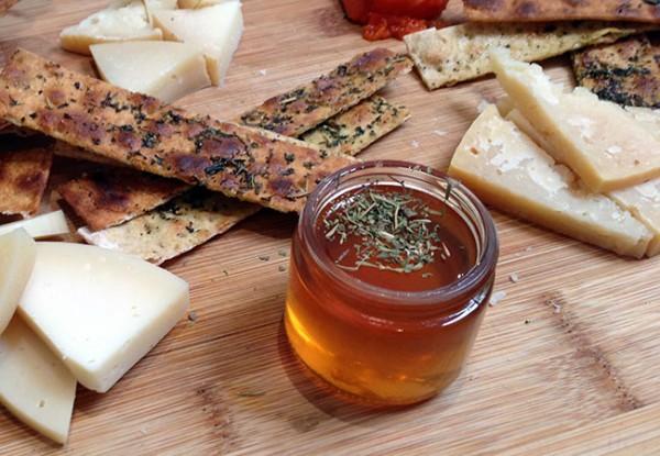 Local honey and cheese from Native Kitchen and Kombucha Bar in Petaluma