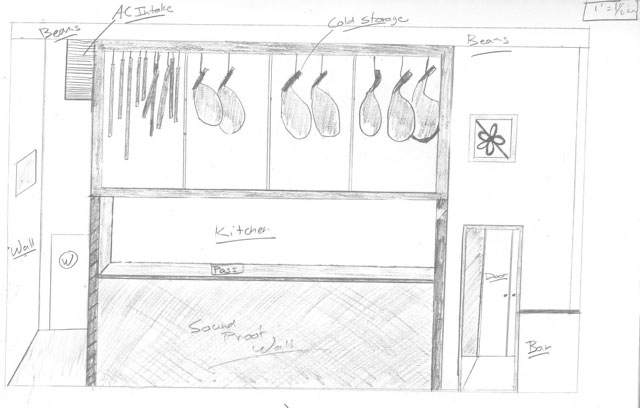 Chef Dustin Valette's drawing for a new charcuterie box at his forthcoming restaurant.