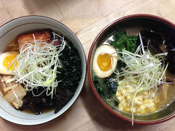 Ramen at Ramen Gaijin, a new pop-up ramen bar. Photo Heather irwin