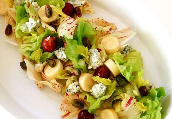 Ad Lib Chop Salad, one of the menu items from the Thomas Keller Restaurant Group and Silverado Resort in Napa. Photo: Meg Smith.