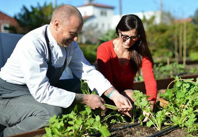 Chef Kyle Connaughton and his wife, Katina Connaughton, will open Single Thread Farms and Inn in Healdsburg. Photo courtesy of Sally Egan.