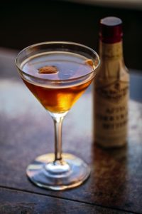 Granados' Manhattan Mexicana cocktail includes Fee Brothers Aztec Chocolate Bitters.
