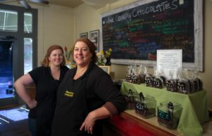 Wine Country Chocolate in Glen Ellen with co-owners Betty, left, and Caroline Kelly, right.