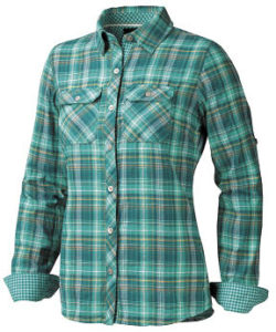 Jenn long-sleeved flannel shirt for women.