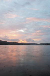 The sunset view across Tomales Bay is a memory maker.