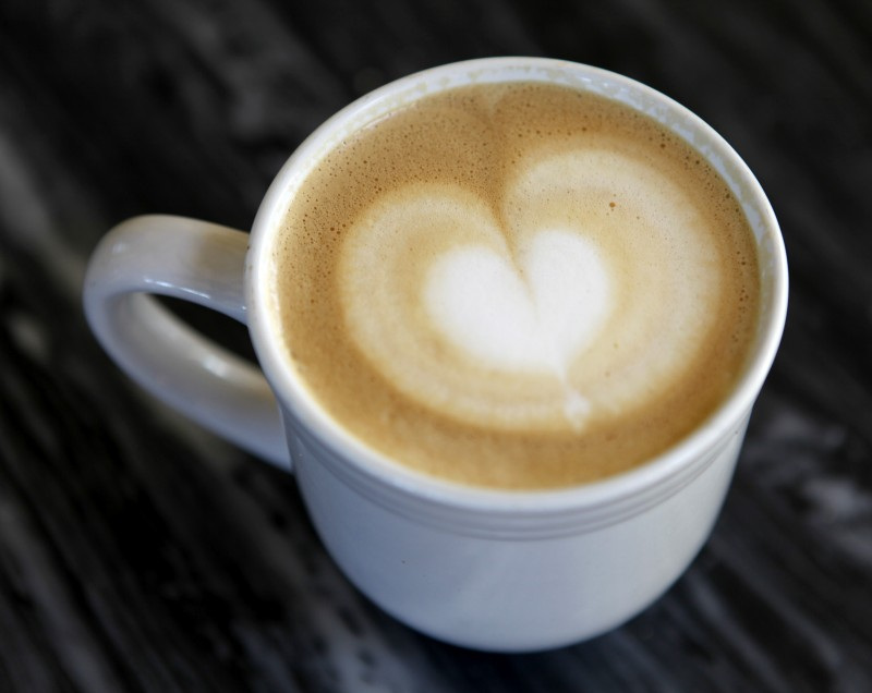 A cup of cappuccino at Gold Coast Coffee and Bakery in Duncans Mills, California on Tuesday, September 13, 2011. (BETH SCHLANKER/ The Press Democrat)