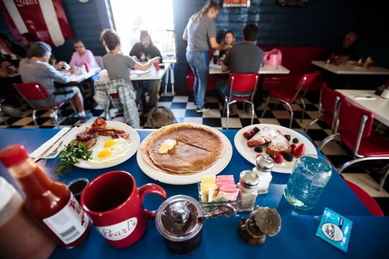 Breakfast at Pearl's Diner in Sonoma.