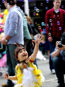 The Cutest Chick contest at the Butter & Eggs Festival in Petaluma. (photo by John Burgess)