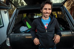 Kevin Jorgeson, climber of the Dawn Wall of El Capitan. (photo by Chris Hardy)