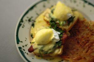 Egg's Benedict at Topsy's Kitchen in Petaluma.