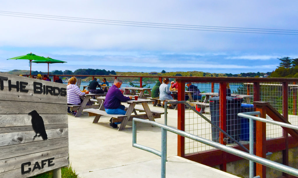The Birds Cafe in Bodega Bay serves up casual food with a million dollar view