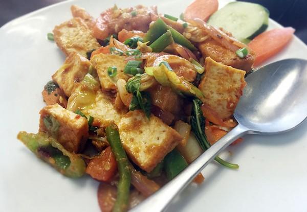 Tofu chili at Himalayan Cafe & Grill in Santa Rosa