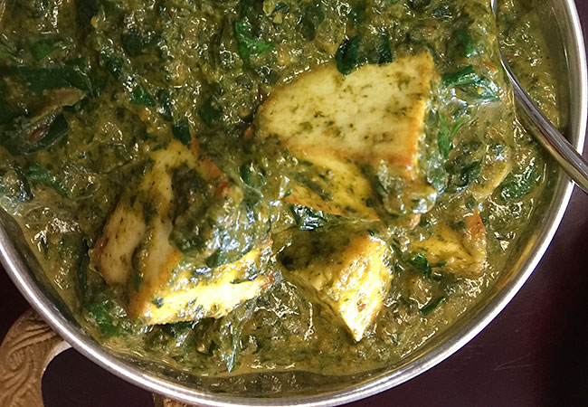 Palak paneer at Himalayan Cafe & Grill in Santa Rosa