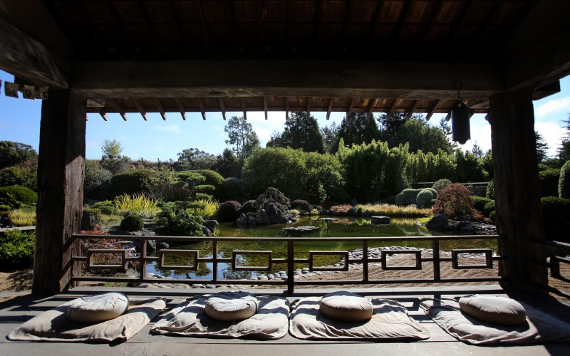 Japanese Meditation Garden at Osmosis Day Spa Sanctuary in Freestone. (Crista Jeremiason)
