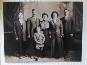 The Martinelli family circa 1910. From left, Bing, Giuseppe, Luisa, Etta and Fred with Leno in front.
