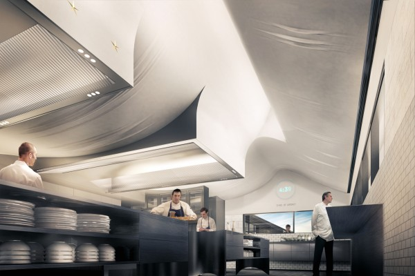 Completed renderings of the French Laundry Kitchen