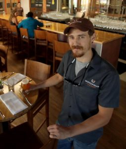 Seth Wood, co-owner at Woodfour Brewing Company in The Barlow in Sebastopol. (photo by Crista Jeremiason)