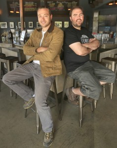 Paul Hawley, left and Remy Martin of Fogbelt Brewing. (photo by Kent Porter)
