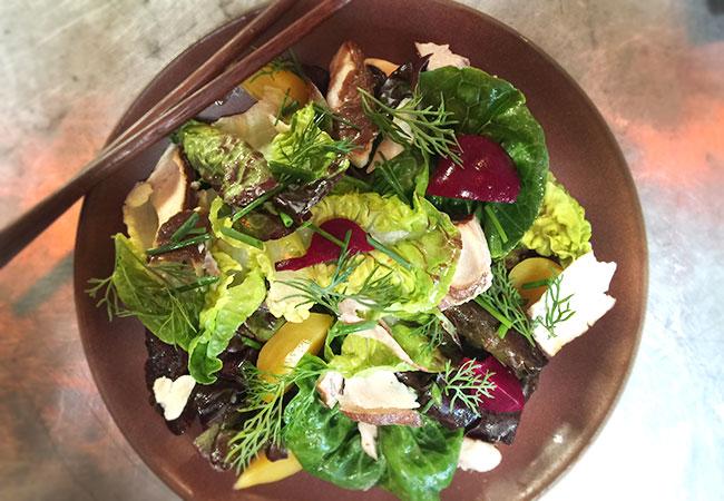 Smoked black cod salad at Ramen Gaijin in Sebastopol