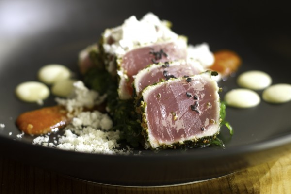 Wakame and ahi tuna at Valette in Healdsburg, CA