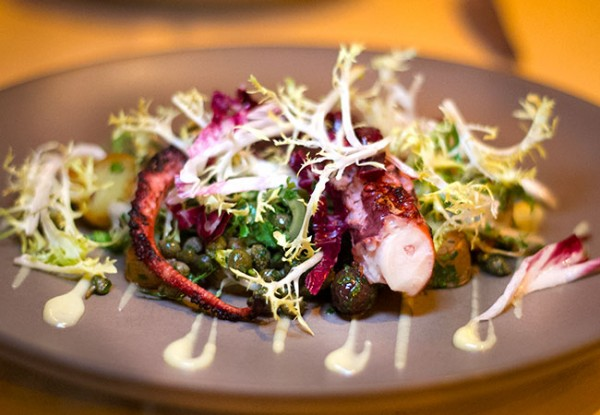 Grilled Octopus at Applewood Inn and Restaurant