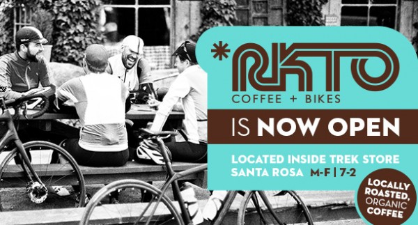 RKTO Coffee and Tea has opened in Santa Rosa at the Trek Bicycle Store