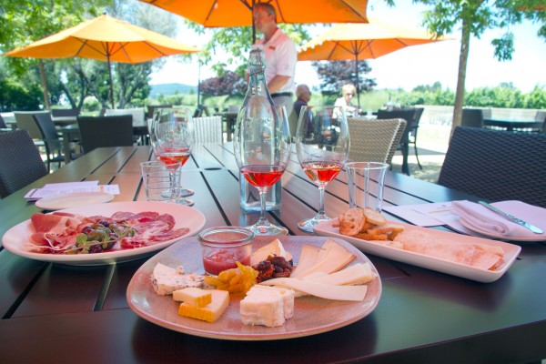 The Terrace at Rodney Strong Winery has opened with a luxe pairing menu. Photo: Heather Irwin.