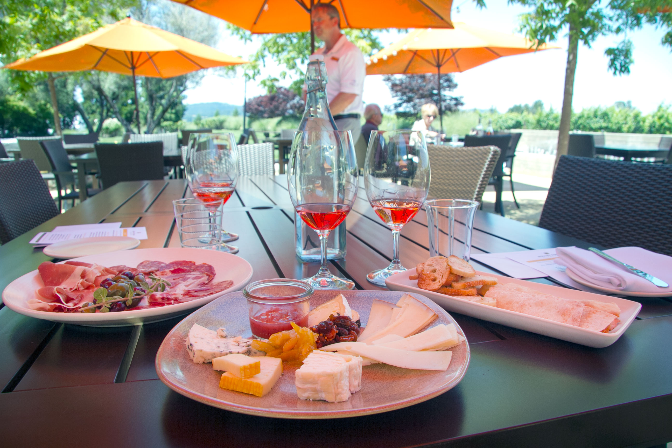 The Terrace at Rodney Strong Vineyards has opened with a luxe pairing menu. Photo: Heather Irwin.