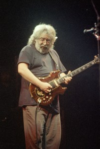 Jerry Garcia of the Grateful Dead performs in concert at New York's Madison Square Garden, Sept. 15, 1987. (AP Photo/Corey Struller)