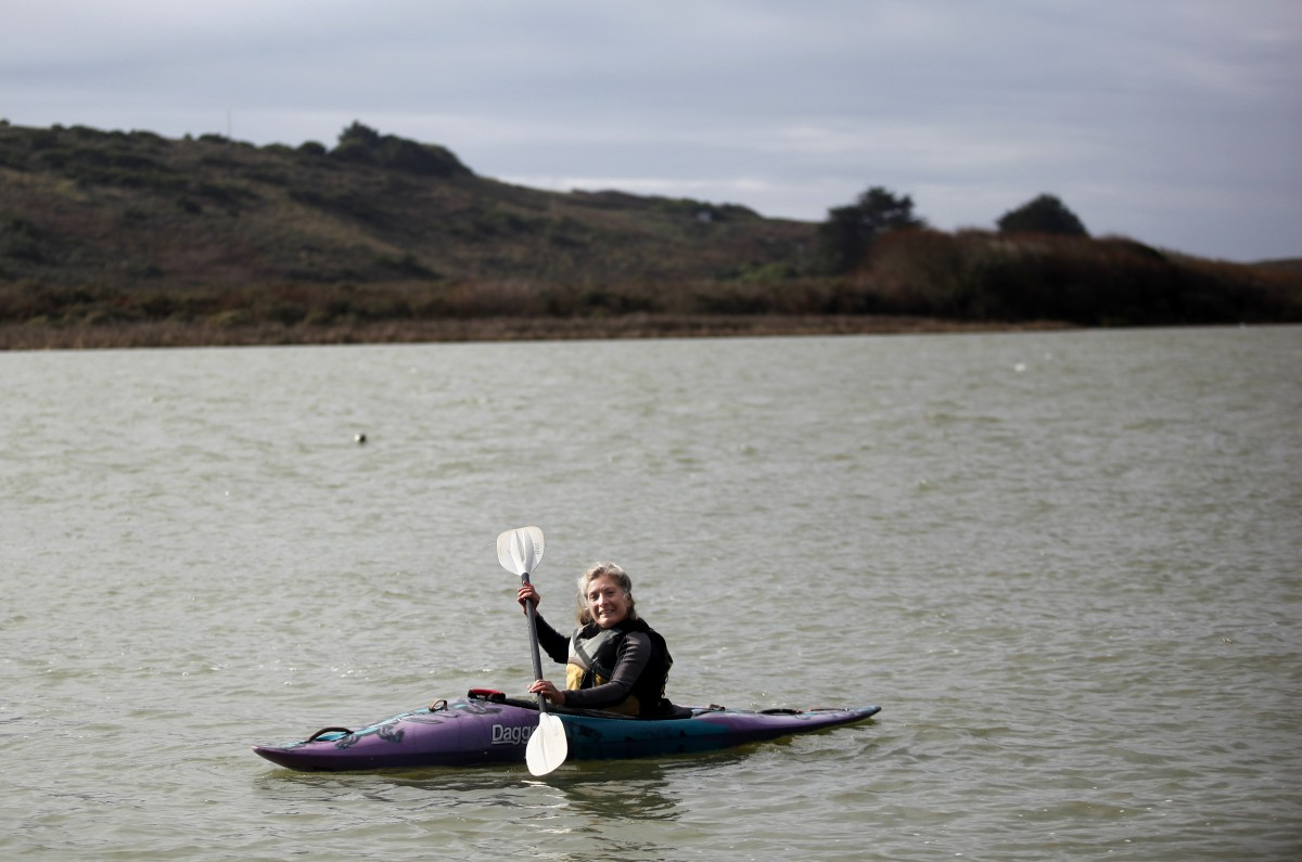 Suki Waters of WaterTreks EcoTours in Jenner, California on Friday, January 11, 2013. (BETH SCHLANKER/ The Press Democrat)