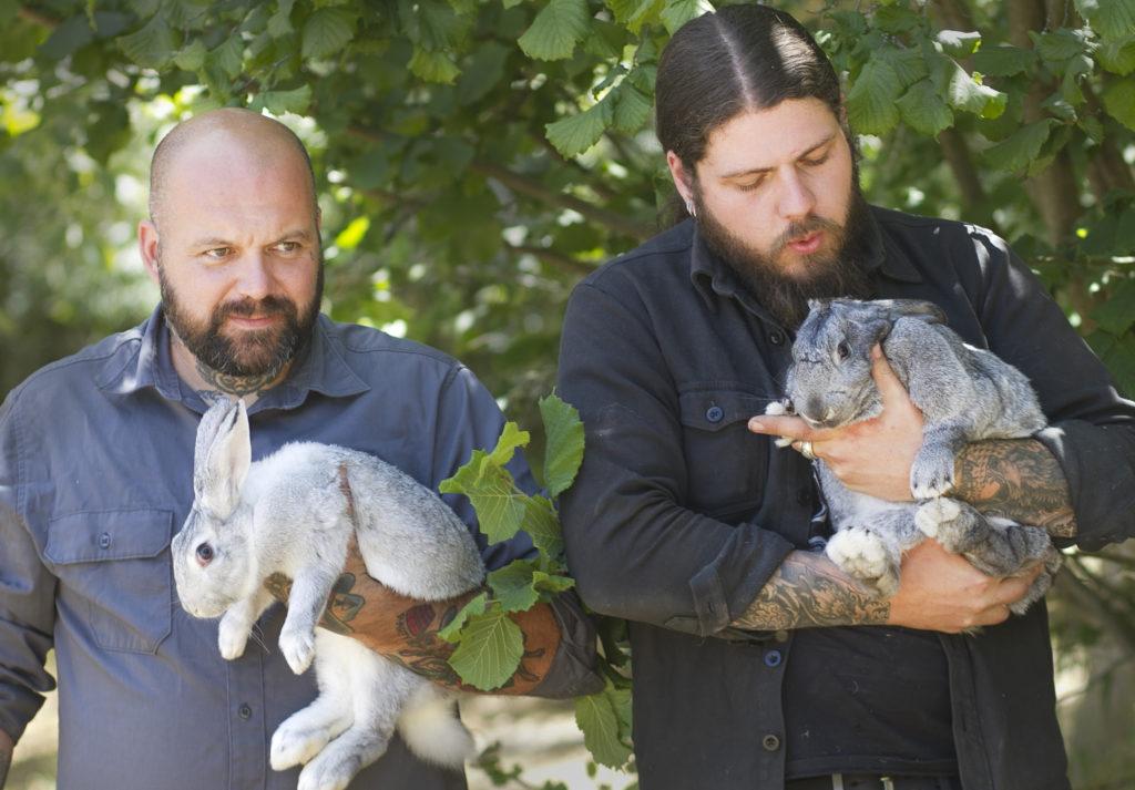 Eric Shevchenko and Simon Masiewicki of Old World Rabbitry. Photo: Heather Irwin.