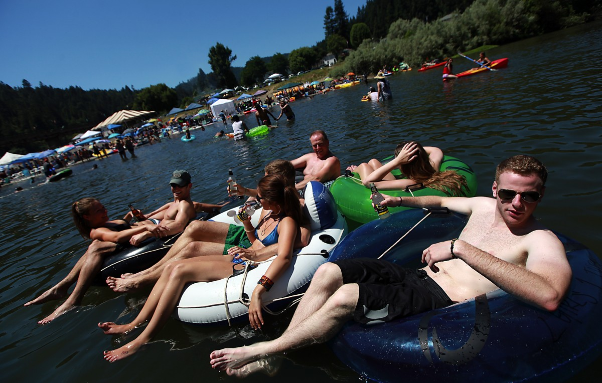 In summer, the cool water of the Russian River at Monte Rio is always a local favorite. (Photo by Kent Porter)